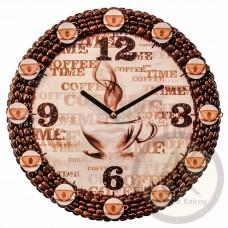 """Кофейные Настенные Часы  """"№ 74"""""""
